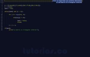 programacion en python: triangular inferior