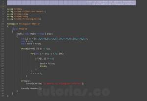 programacion en c#: mostrar los datos de la triangular inferior