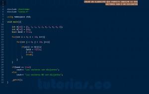 programacion en C++: vectores disjuntos