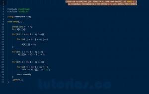 programacion en C++: diagonal secundaria de una matriz