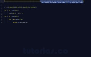 programacion en python: diagonal secundaria de una matriz