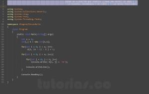 programacion en c#: diagonal secundaria de una matriz