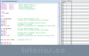 programacion assembly: ecuacion de primer grado