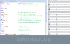 programacion assembly: numeros primos menor a un valor