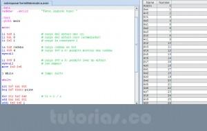 programacion assembly: sobrepasar serie matematica