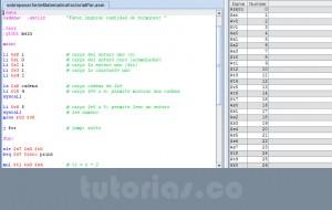 programacion assembly: sobrepasar serie matematica factorial par