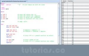 programacion assembly: suma de cuadrados por sumas sucesivas