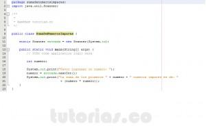 programacion en java: suma de numeros impares