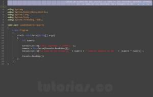programacion en visualStudio: suma de numeros impares