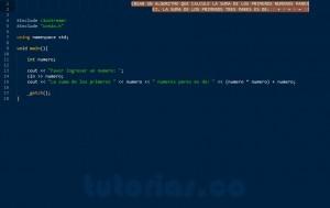 programacion en C++: suma de numeros pares