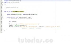programacion en java: suma de numeros pares