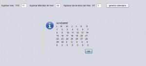 Resultado ejecucion programa calendario a partir de fecha