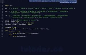 programacion en python: mostrar numero cardinal a ordinal