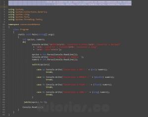 programacion en c#: conversion de datos