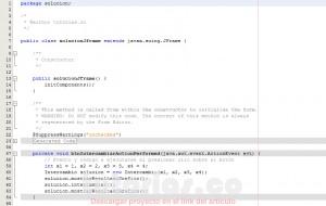 programacion en java: intercambio de numeros