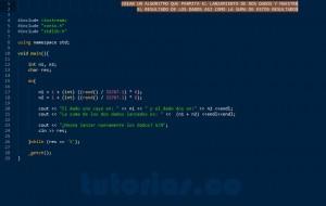 programacion en C++: lanzamiento de dados