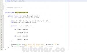 programacion en java: hallar el mayor y menor valor de un vector