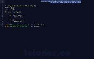 programacion en python: hallar el mayor y menor valor de un vector