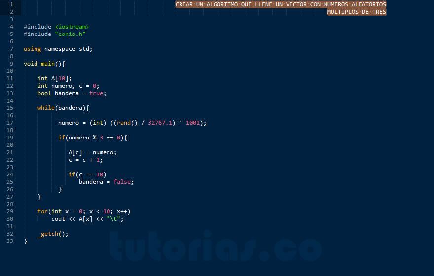 programacion en C++: vector con numeros multiplos de tres