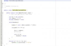 programacion en java: vector con numeros multiplos de tres