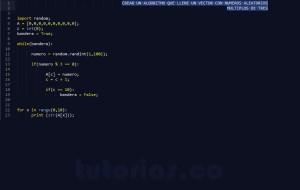 programacion en python: vector con numeros multiplos de tres