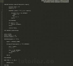 programa en pseudocodigo: vector con numeros primos
