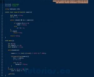 programacion en C++: vector con numeros primos