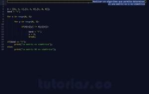 programacion en ptyhon: matriz simetrica