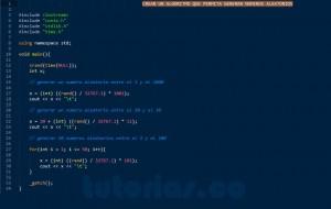 programacion en c++: generar numeros aleatorios