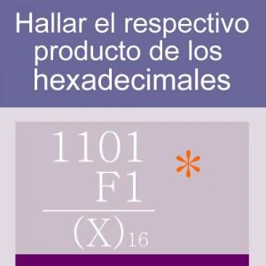 sistemas numericos: producto en hexadecimal 4 digitos 2 multiplicadores