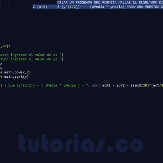 programacion en python: expresion de sumatorias