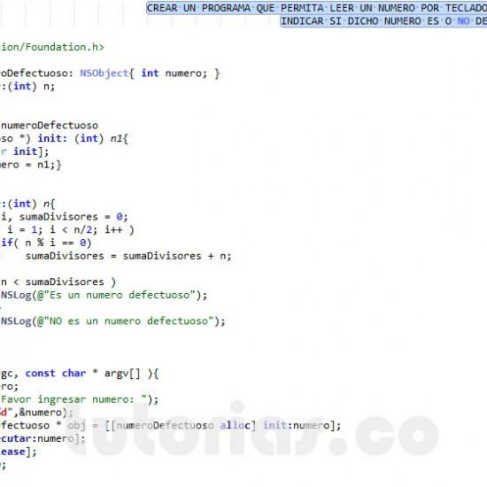 programacion en objective C: numero defectuoso