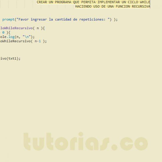 programacion en javascript: ciclo while recursivo