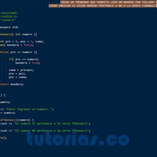 programacion en c++: el numero fibonacci