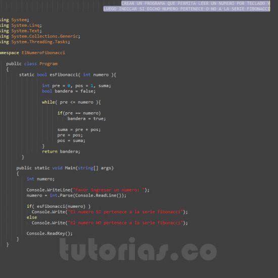 programacion en c#: el numero fibonacci
