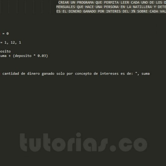 programacion en pseudocodigo: intereses mensual natillera