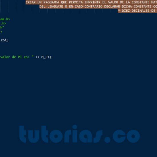 programacion en c++: la constante PI