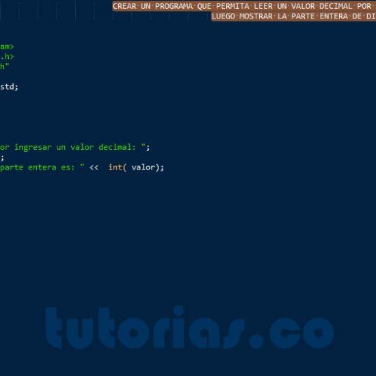 programacion en C++: parte entera de un decimal