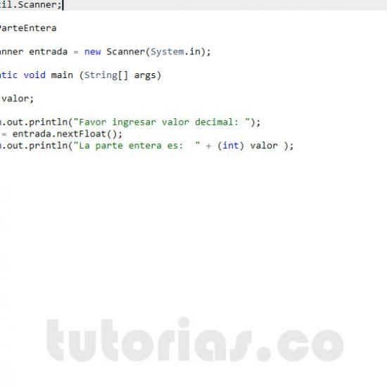 programacion en java: parte entera de un decimal