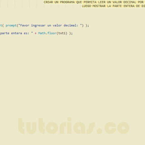 programacion en javascript: parte entera de un decimal