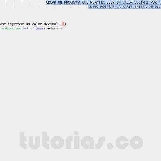 programacion en matlab: parte entera de un decimal
