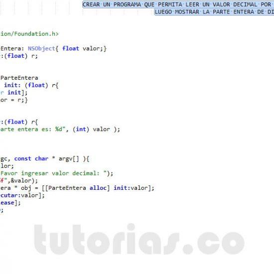 programacion en objective C: parte entera de un decimal