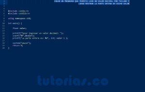 programacion en turbo C: parte entera de un decimal