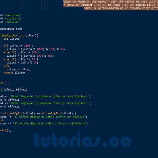 programacion en c++: ultimo digito de dos cifras