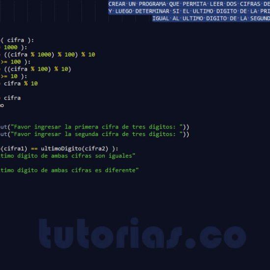 programacion en python: ultimo digito de dos cifras