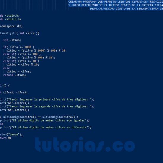 programacion en turbo C: ultimo digito de dos cifras