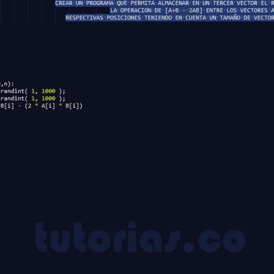 programacion en python: operacion entre vectores A+B-2AB