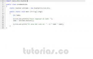programacion en java: area de un cubo