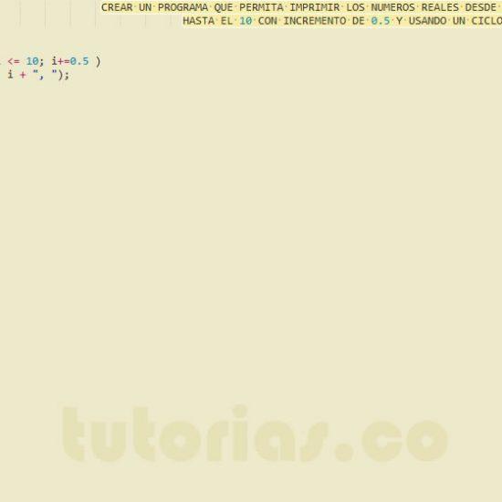 programacion en javascript: ciclo for con decimal