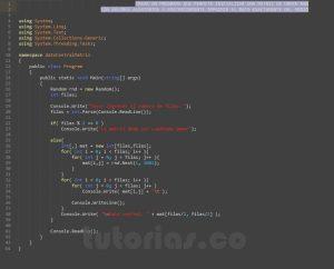 programacion en c#: imprimir dato central de una matriz